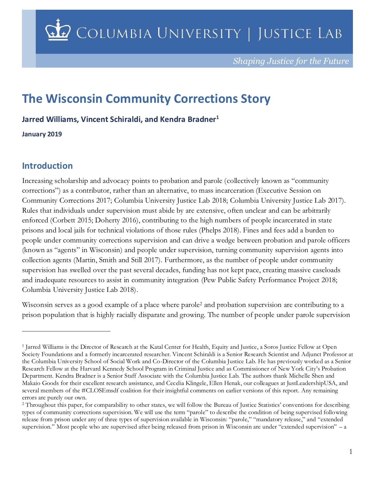 Wisconsin Community Corrections Story